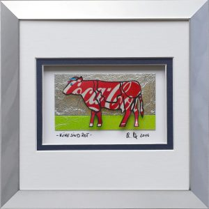 - Kühe sind rot - 16x16cm