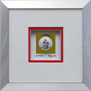 - La poule - 16x16cm